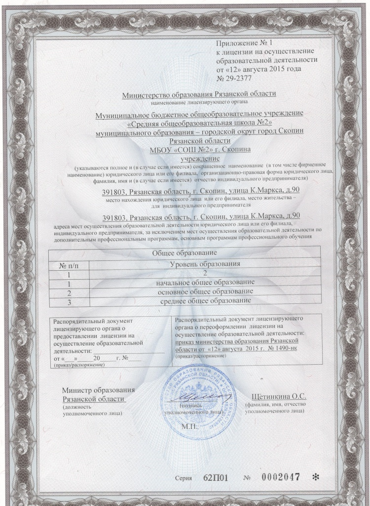 Prilogenie k licenzii
